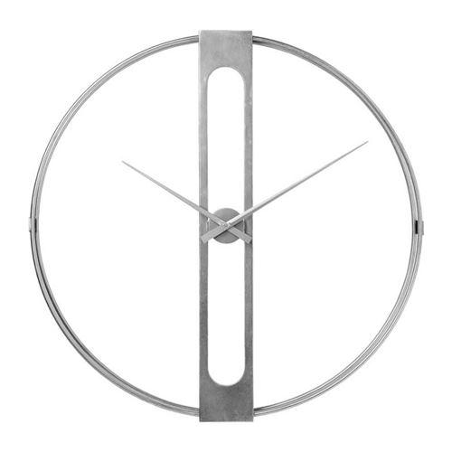 Horloge murale Clip argentée 107cm Kare Design