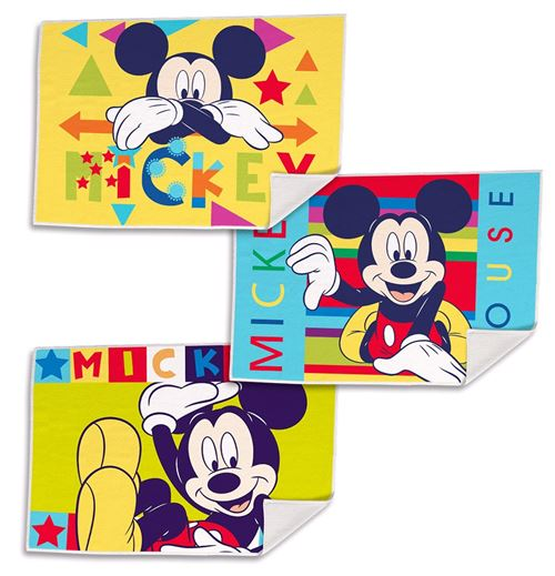 Disney serviettes Mickey Mouse junior 40 cm polyester 3-pièces