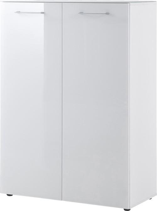 Meuble à chaussures coloris Blanc - Dim : 88 x 120 x 40 cm - PEGANE -