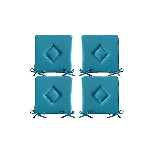 Galette de chaise 40 x 40 cm - Bleu