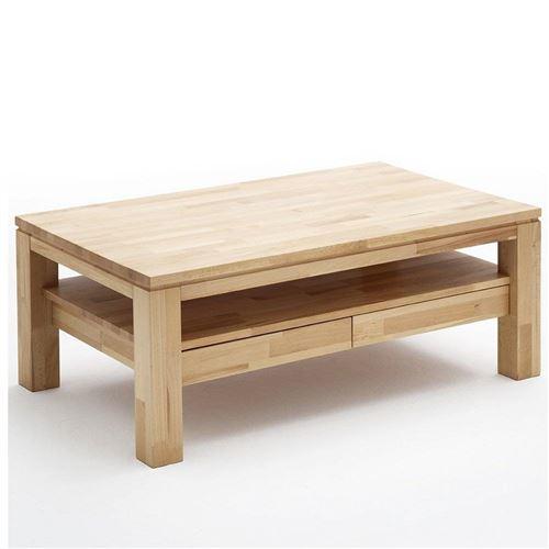 Table basse GORDES 115 x 70 cm en hêtre massif ciré et huilé