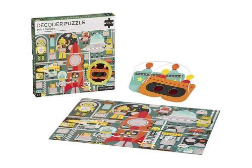 Petit Collage puzzle Robot usine 38 x 47 cm 100 pièces