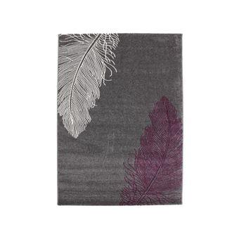 FINLANDEK Tapis de salon Rauma 80x150 cm gris et violet - Achat ...