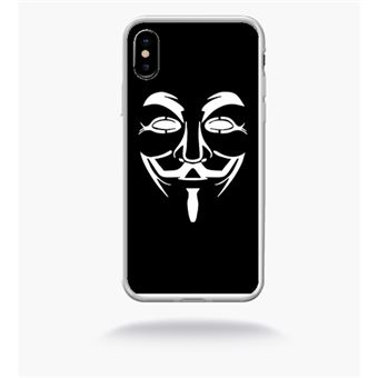 coque anonymous iphone x
