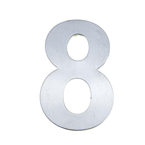 acier inoxydable Nombre 8 8 cm avec marquage adhésif