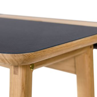 bureau design scandinave bois et linolum kota couleur noirchne achat prix fnac - Bureau Design Scandinave
