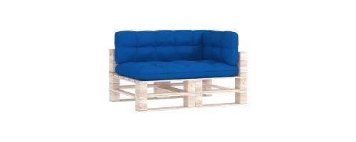 Coussins de canapé palette extérieur 120 x 80 x 12 cm Bleu royal