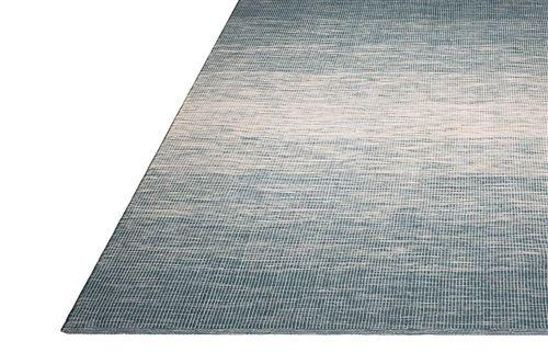 Fabhabitat Tapis intérieur extérieur Stockholm bleu 90 x 60 cm