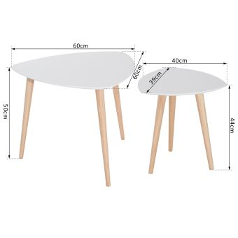 2790 Sur Lot De 2 Tables Basses Gigognes Design Scandinave Bicolore