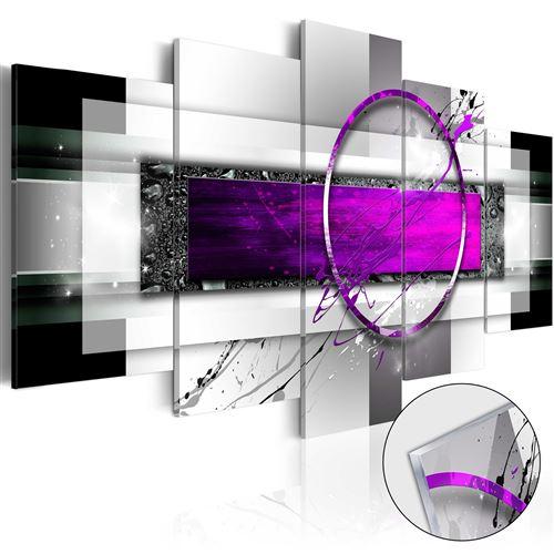 Tableau sur verre acrylique - Violet Rim [Glass] - Décoration,