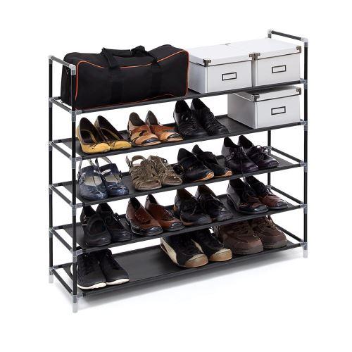 Étagère à chaussures - 20 paires de chaussures - Noir