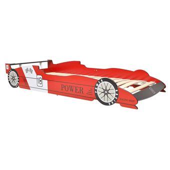 vidaxl lit voiture de course pour enfants chambre 90x200 cm rouge lit d enfant lit pour enfant achat prix fnac - Lit Voiture Enfant