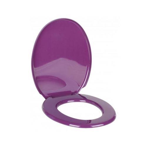 Abattant WC - 45,4 x 36,5 cm - Plastique - Mauve