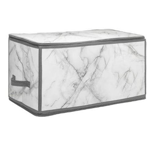 Boîte de Rangement Marbre 30x52cm Gris & Blanc