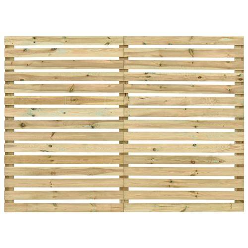 vidaXL Panneau de clôture de jardin Bois de pin imprégné 180 x 180 cm