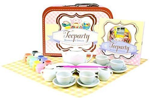 Arista kreativ - Service à thé en céramique pour enfant à peindre