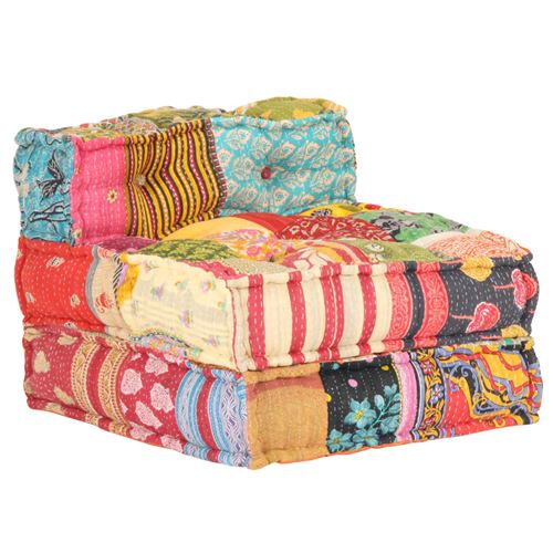 Chunhe Pouf modulaire Patchwork Tissu AB287702