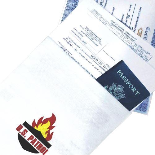 Sac ignifuge Protection de Documents 38 x 26 cm - Résistant au Feu - Pochette en Fibre de Verre - Haute résistance à plus de 500°C