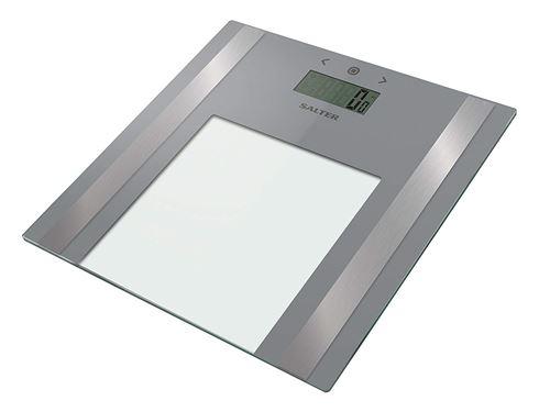 Balance de salle de bain avec analyseur Salter Ultra Slim - poids et masse grasse, pourcentage d'eau, IMC, 8 utilisateurs et mode Athlète, design élégant, affichage facile à lire - Garantie de 15 ans