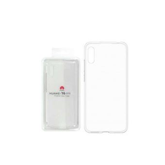 Huawei - Achterzijde behuizing voor mobiele telefoon - thermoplastic polyurethaan (TPU) - transparant - voor Huawei Y6 2019