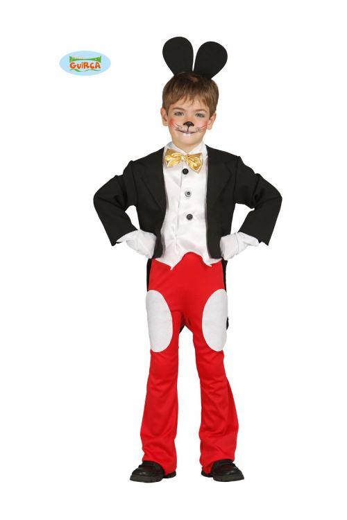 Costume Enfant Souris Mickey - Rouge / Noir - 3/4 ans