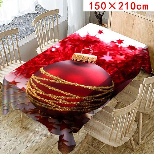 Nappe de Noël Imprimer Rectangle Table Cover Holiday Party Home Decor_Kiliaadk381