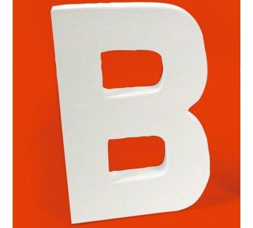 Lettre en carton B