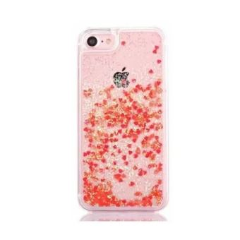 coque iphone 7 paillette rouge