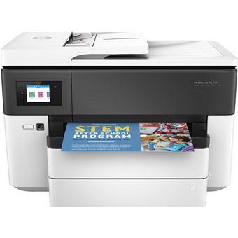 Imprimante HP OfficeJet Pro 7730 Multifonctions Ethernet et WiFi Blanc