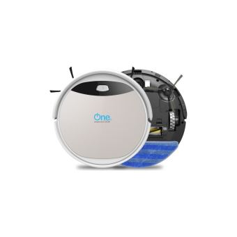 One Aspirateur Robot Laveur Aqua 210 60 Db 120 Mn Dautonomie Gris