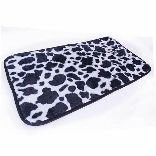 Couleur campagne tapis rectangulaire polyester imprimé, féria blanc 50 x 80