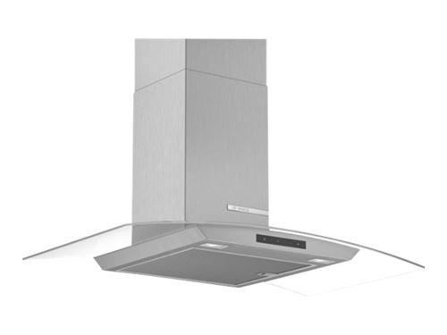 Bosch Serie 4 DWA96DM50 - Hotte - hotte décorative - largeur : 90 cm - profondeur : 48.8 cm - extraction et recirculation (avec kit de recirculation supplémentaire) - inox et verre