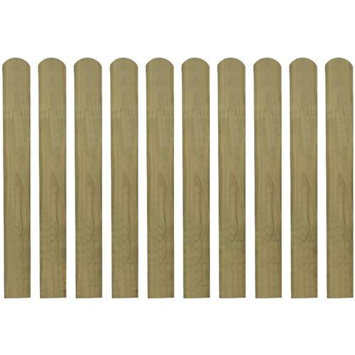 vidaXL 20 pcs Lattes imprégnées de clôture Bois FSC 80 cm