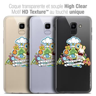 Caseink Coque Samsung Galaxy J6 2018 J600 (5.6 ) The Lapins Crétins®   Collection Officielle  Design Ils Sont Tous Là !  Antichoc arrière -  Souple - Ultra ... 4312ec5a1d2b
