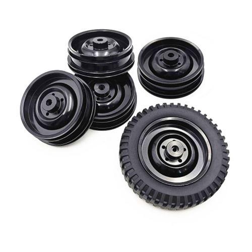 Moyeu de jante roue en alliage métallique 5PC pour 1/10 JJ / RC Q65 mise à niveau des pièces rechange voiture RC - Noir