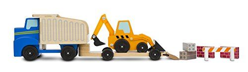Melissa Doug Dump Truck Loader Wooden Play Set
