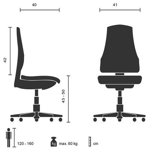 Chaise de bureau pour enfant Siège pivotant KIDDY NET