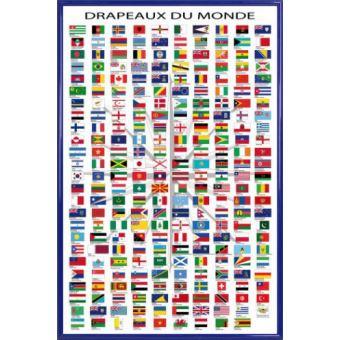 Poster Encadre Drapeaux Du Monde Noms Des Pays Et Capitales En Francais 91x61 Cm Cadre Plastique Bleu Poster Affiche Encadre Top Prix Fnac