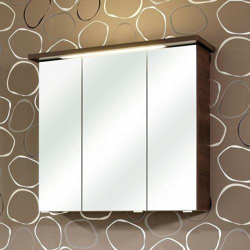 Armoire De Toilette Portes Miroir Avec Eclairage Led Williams Moka 3 Portes Achat Prix Fnac