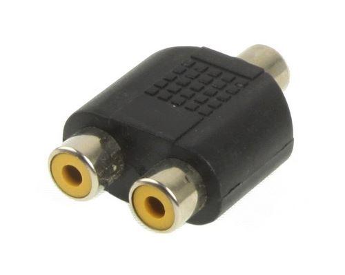 (#27) RCA Female to 2 RCA Female Adapter(Black)