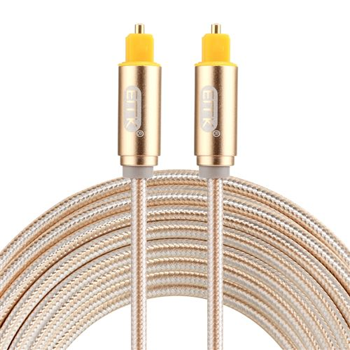 (#26) EMK 3m OD4.0mm Gold Plated Metal Head Woven Line Toslink Male to Male Digital Optical Audio Ca