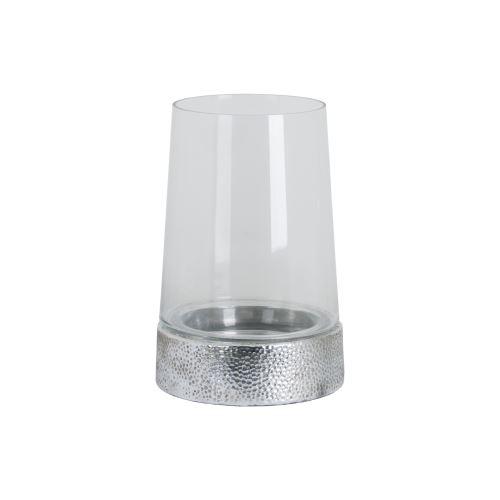 Hill Interiors - Grande lanterne cylindrique en céramique métallique (Taille unique) (Argent) - UTHI3041