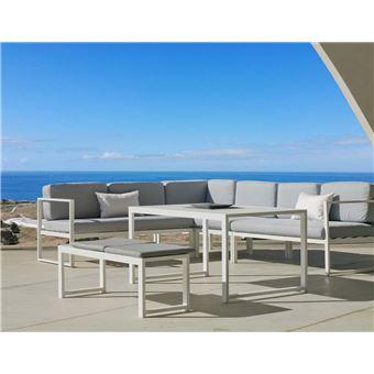 Hevea - Salon de jardin en aluminium canapé d\'angle Anaele