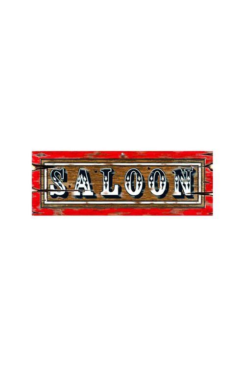 Decor Carton Enseigne Saloon