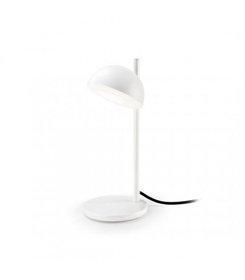 Lampe Talk, aluminium et verre, blanc mat