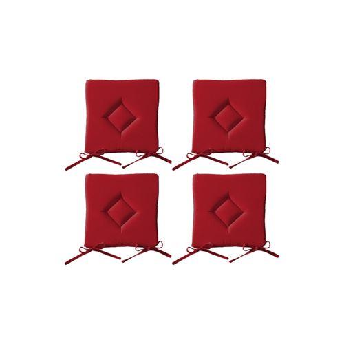 Galette de chaise 40 x 40 cm - Rouge