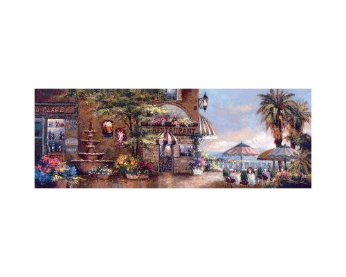 Puzzle 1000 Pièces : James Lee : Cafe Walk II, Art Puzzle