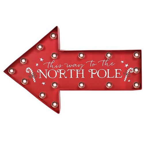 Something Different - Écriteau Pôle Nord 'This Way To The North Pole' (Taille unique) (Multicolore) - UTSD1816