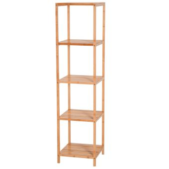 Etagère en bambou rangement salle de bain 5 niveaux dim. 36L x 36l x ...