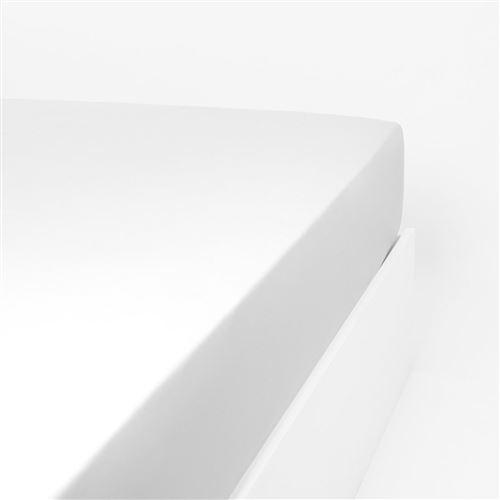 LINANDELLE - Drap housse jersey extensible enfant KIDOR Blanc 60x120 cm